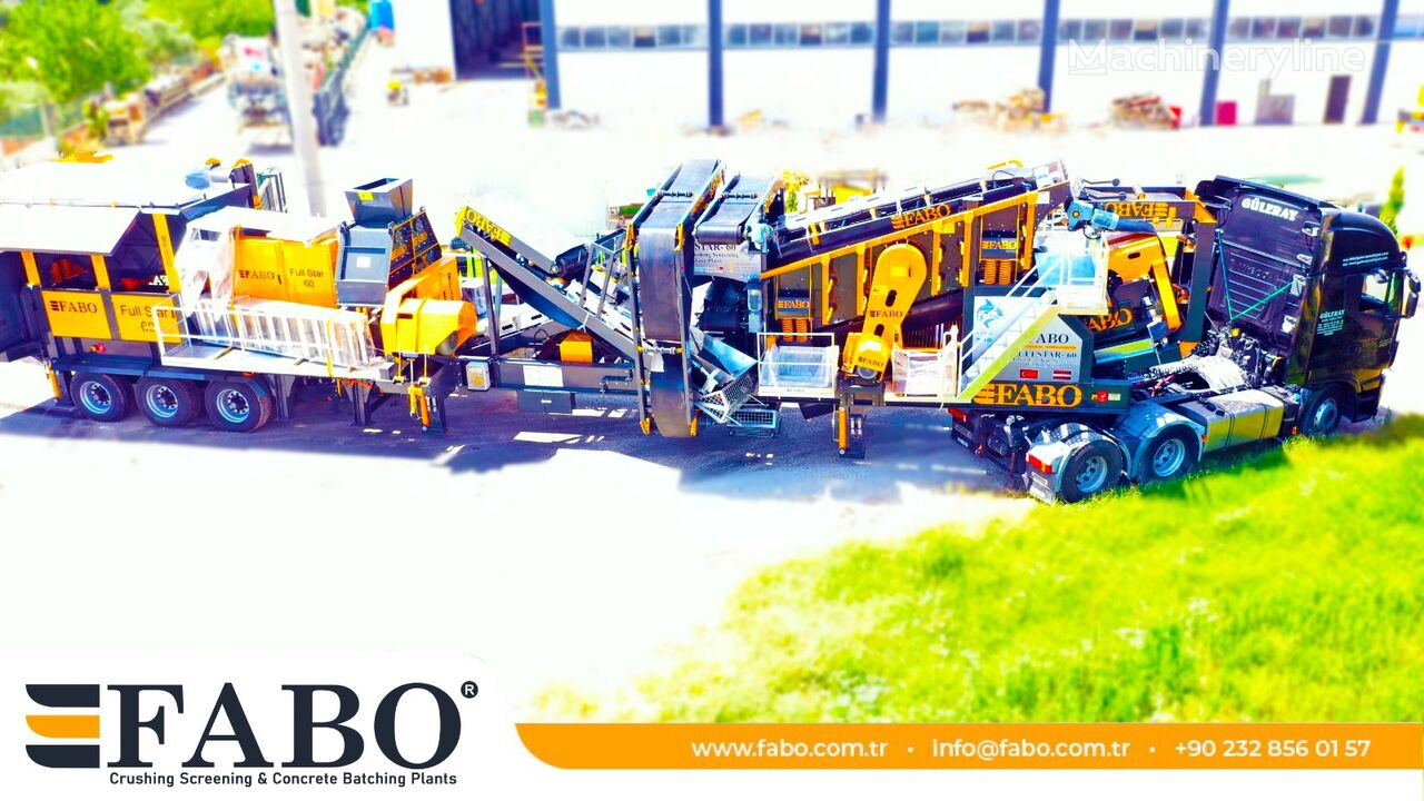 concasseur mobile FABO FULLSTAR-60 Crushing, Washing & Screening  Plant neuf