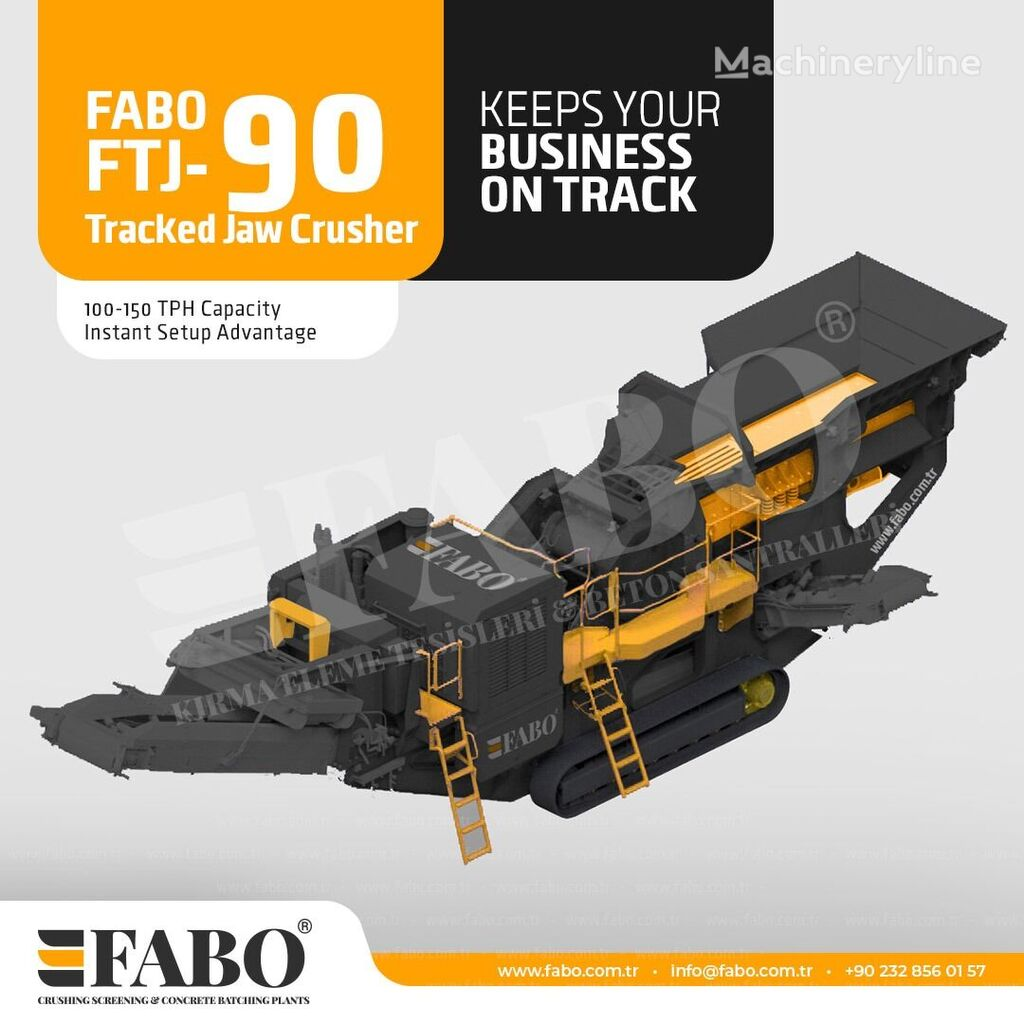 concasseur mobile FABO Fabo FTJ-90 Tracked Jaw Crusher neuf