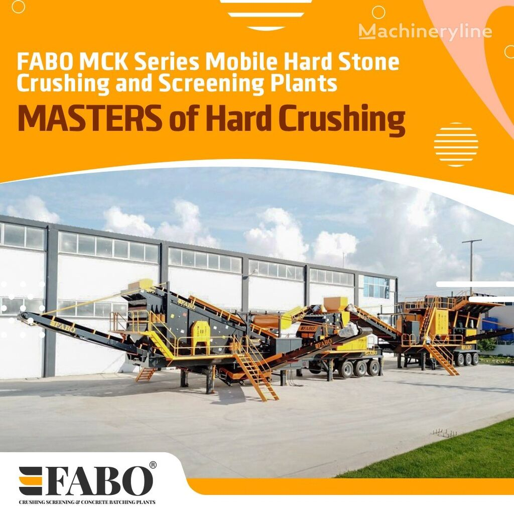 concasseur mobile FABO MCK-110 MOBILE CRUSHING & SCREENING PLANT | JAW+SECONDARY neuf