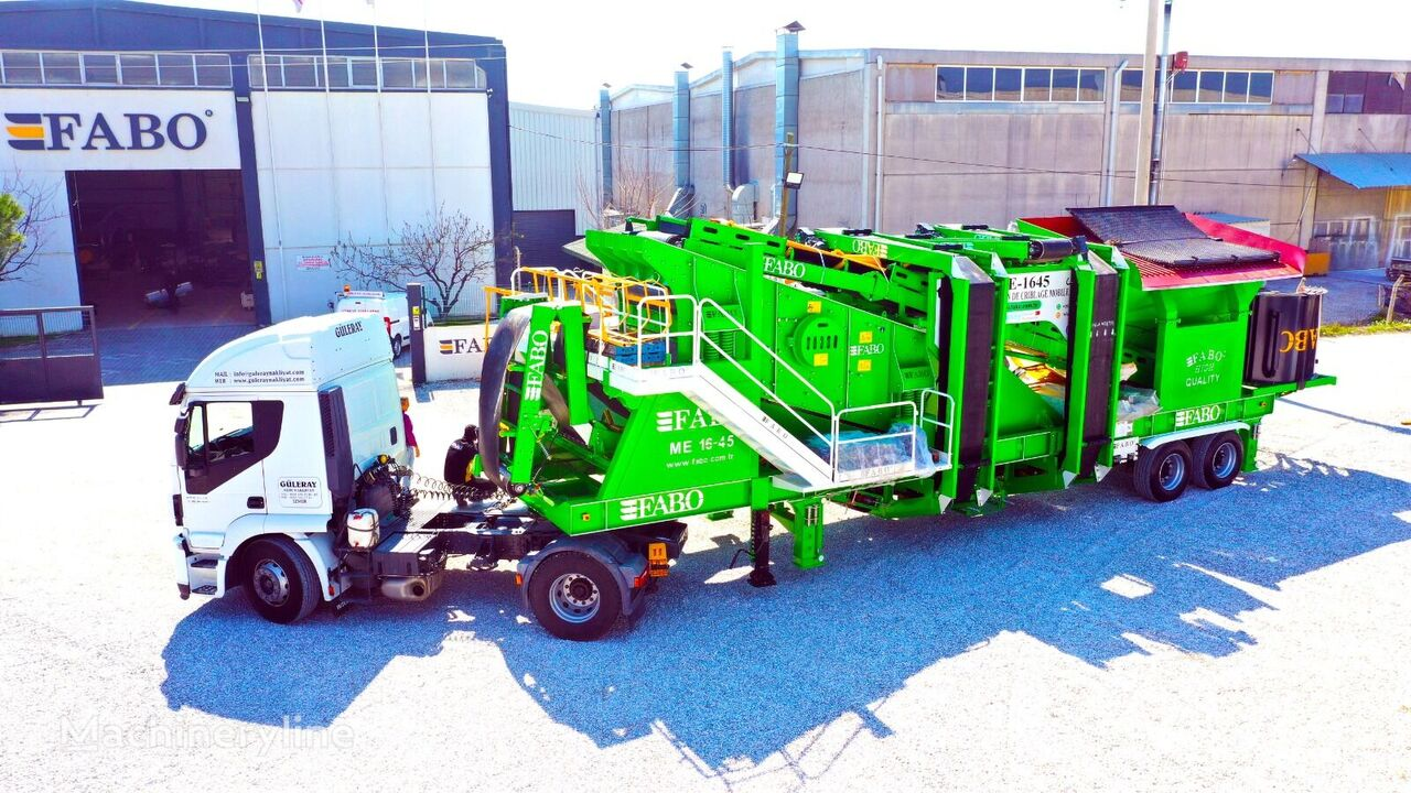 concasseur mobile FABO ME 1645 SERIES MOBILE SAND SCREENING PLANT neuf