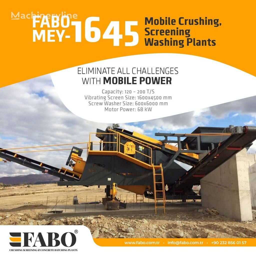 concasseur mobile FABO MEY 1230 TPH MOBILE SAND SCREENING & WASHING PLANT neuf