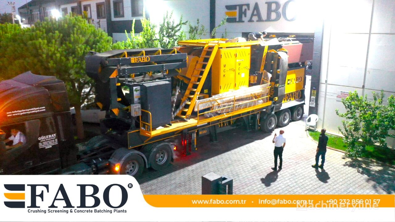 concasseur mobile FABO MJK SERIES MOBILE JAW CRUSHER PLANT neuf