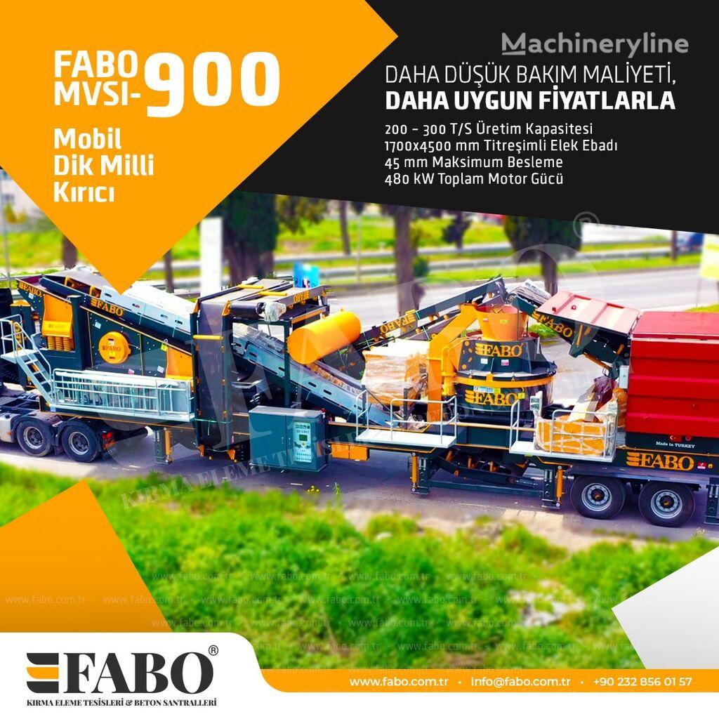 concasseur mobile FABO MVSI 900 MOBILE VERTICAL SHAFT IMPACT CRUSHING SCREENING PLANT neuf