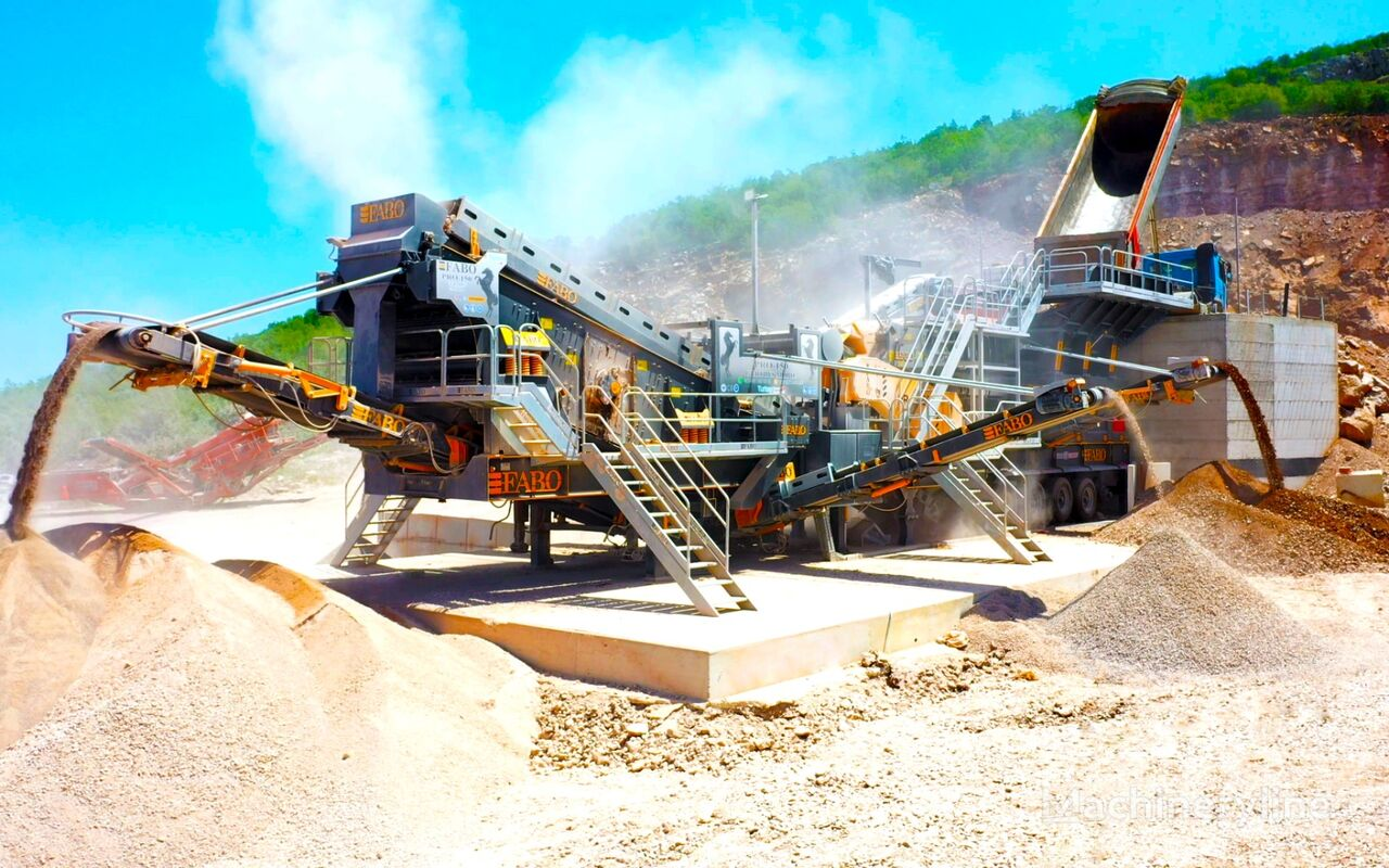 concasseur mobile FABO PRO-150 MOBILE IMPACT CRUSHER WITH SCREEN FOR LIMESTONE neuf