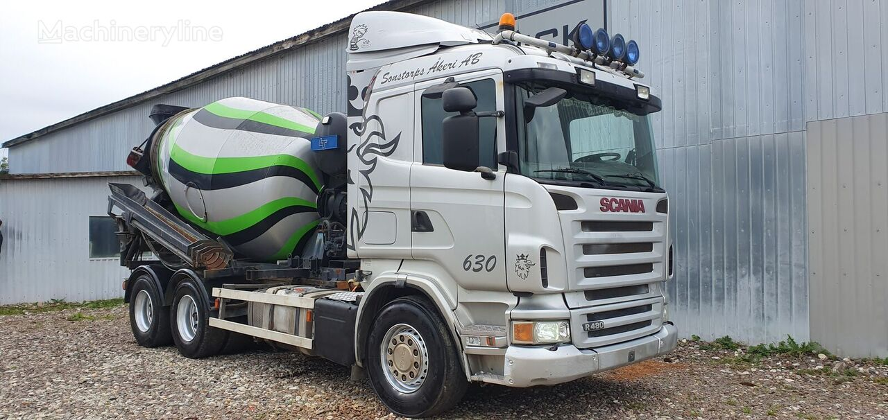 camion malaxeur SCANIA R480 6x4 + 9m HYDRAULIC PIPE + EXTRA BOX