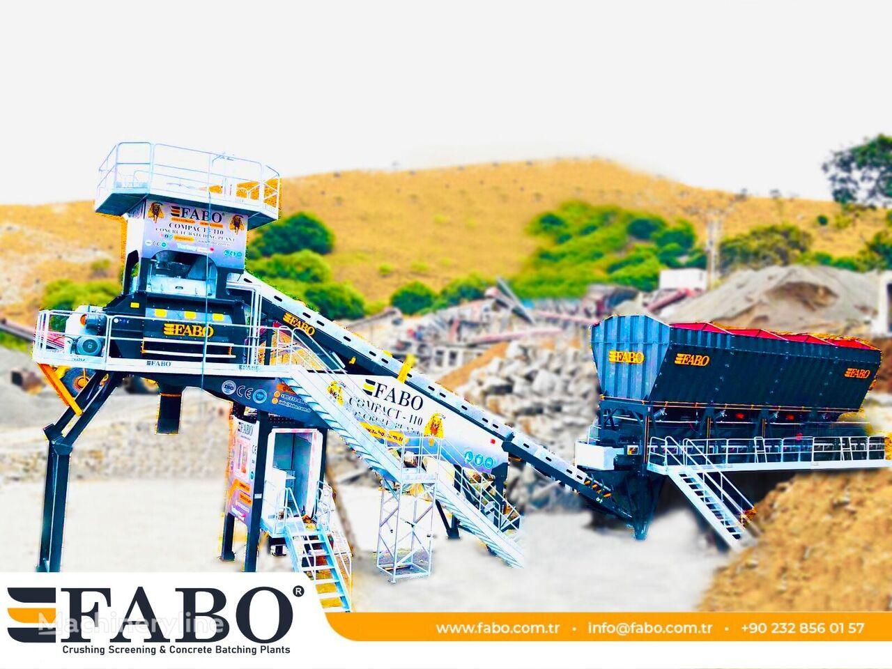 centrale à béton FABO FABOMIX COMPACT-110 CONCRETE PLANT | CONVEYOR TYPE neuve