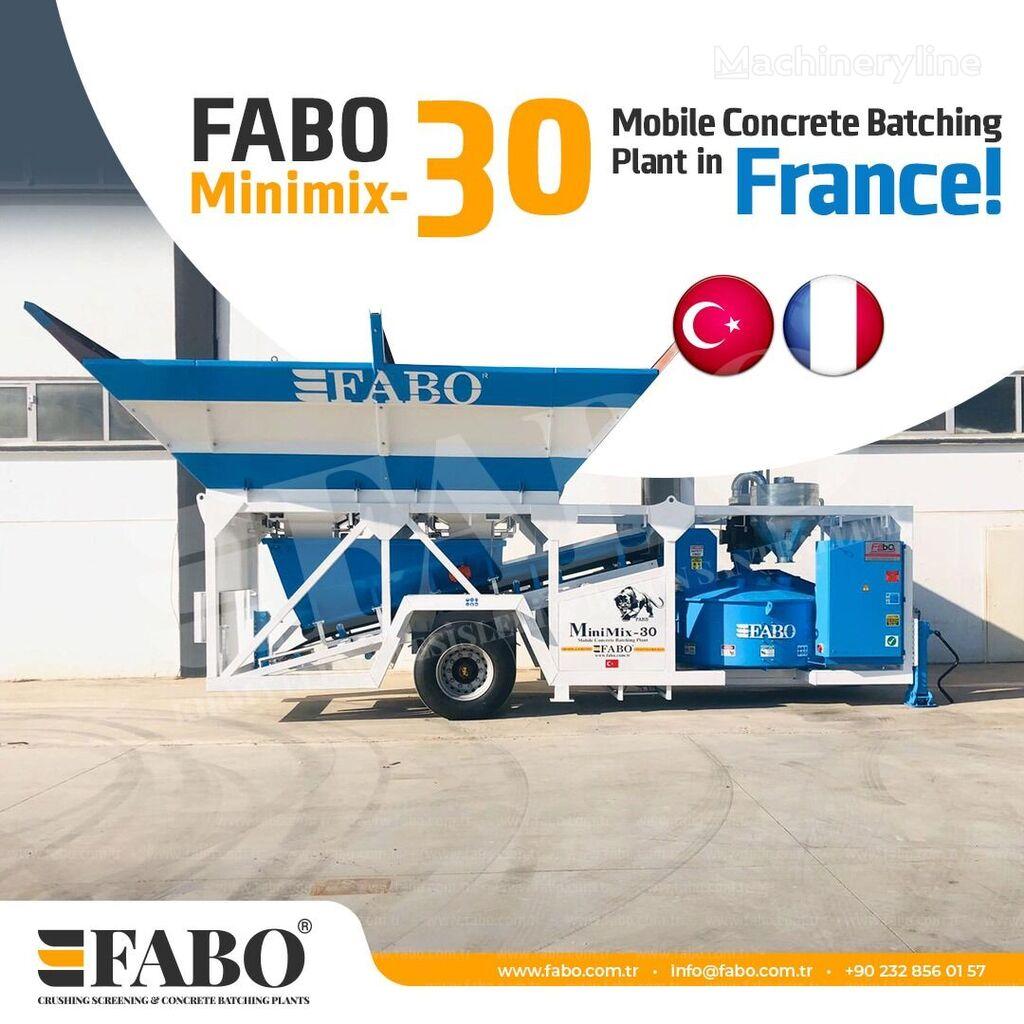 centrale à béton FABO MINIMIX 30 M3/H MOBILE CONCRETE PLANT EASY TRANSPORT neuve