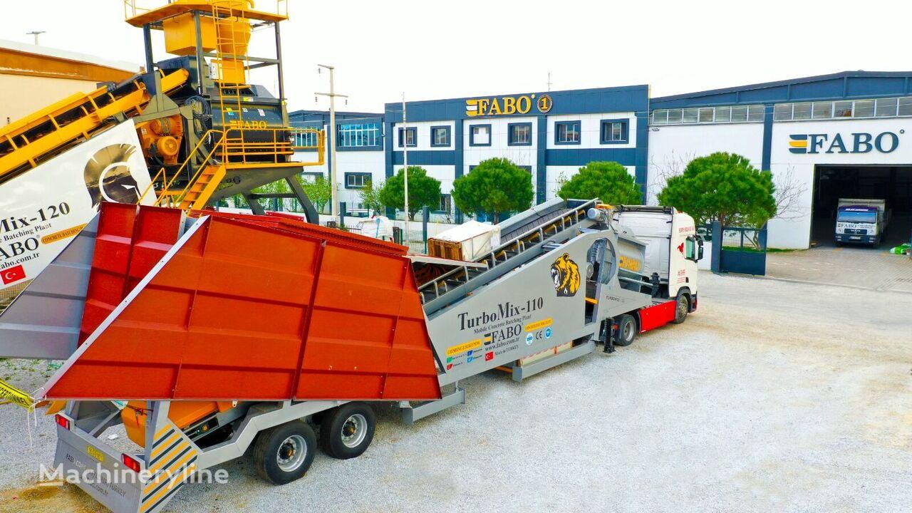 centrale à béton FABO TURBOMIX-110 Mobile Concrete Batching Plant neuve
