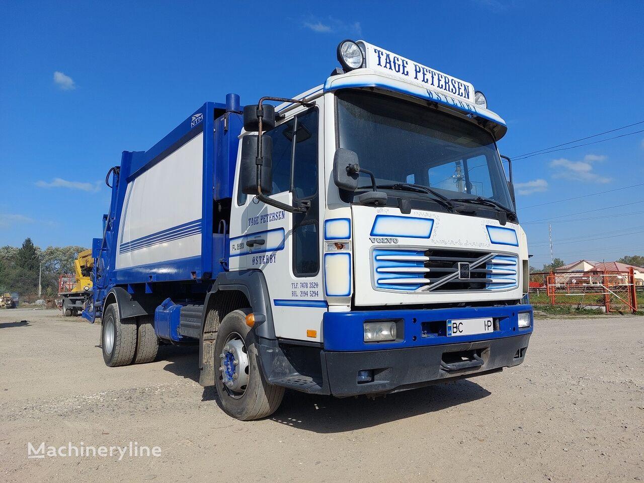 camion poubelle VOLVO FL 220 Bunker – finskiy NTM-11 m3 Presue – 6:1 Vidminniy stan!